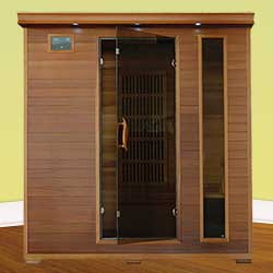 Klondike Ultra 4 Person Carbon Infrared Home Sauna