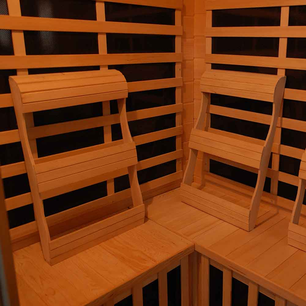 Genesis Series 3 Person Carbon Corner Sauna