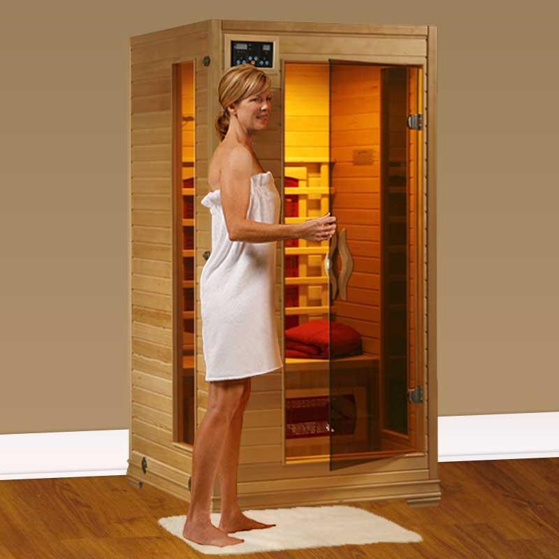 perfect heat buena vista 1 person ceramic infrared home sauna. Black Bedroom Furniture Sets. Home Design Ideas