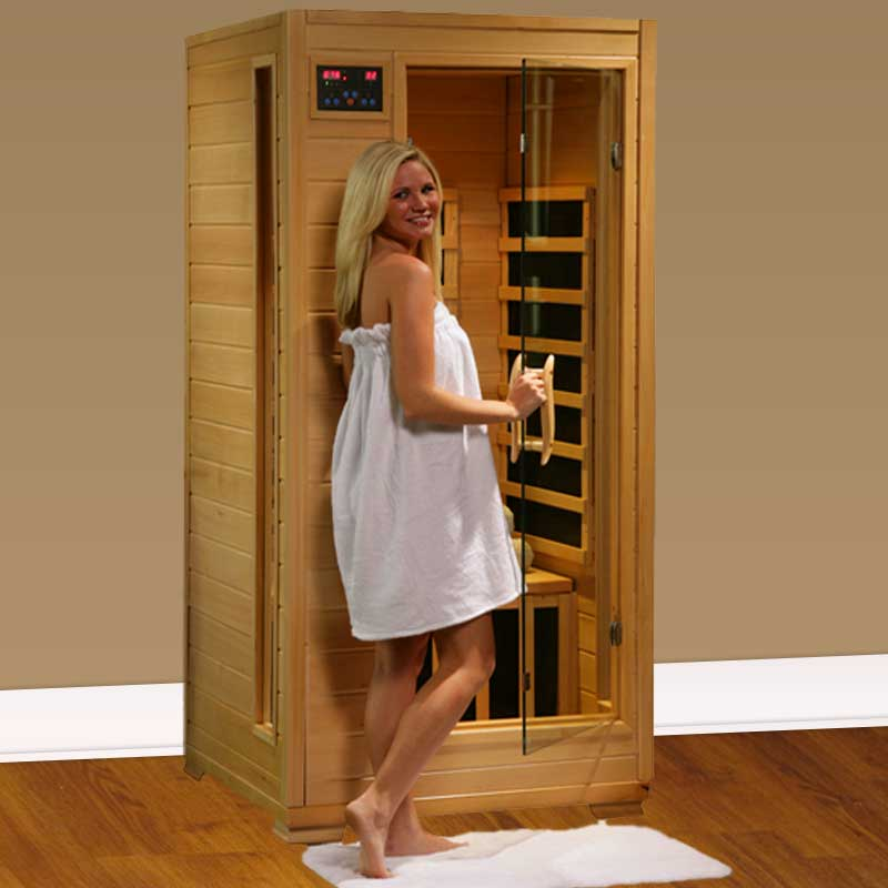 perfect heat buena vista 1 person carbon infrared home sauna. Black Bedroom Furniture Sets. Home Design Ideas