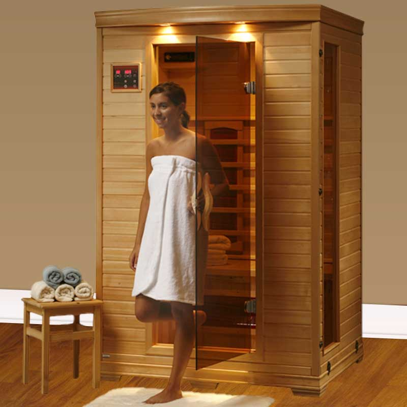 perfect heat coronado ultra 2 person ceramic infrared home sauna. Black Bedroom Furniture Sets. Home Design Ideas