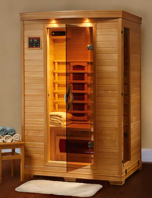 2 Person Dry Heat Ceramic Personal Infrared Home Sauna Ebay