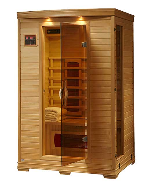 2 person dry heat ceramic personal infrared home sauna ebay. Black Bedroom Furniture Sets. Home Design Ideas