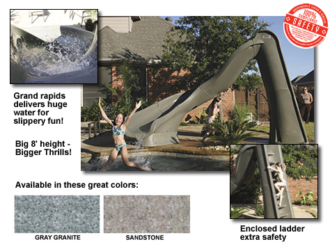 Sr Smith Turbo Twister 8 Swimming Pool Slide