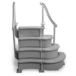 Confer Curved Above Ground Pool Steps Add-On Unit