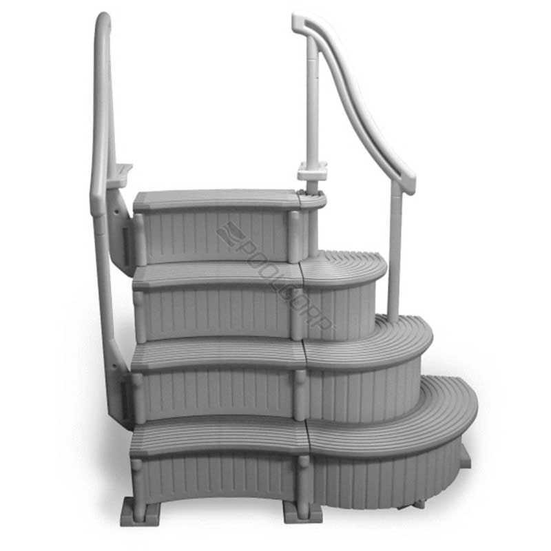 Confer curved above ground pool steps add on unit - Above ground pool steps ...