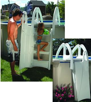 Above Ground Swimming Pool Steps Safety Ladder Attachment