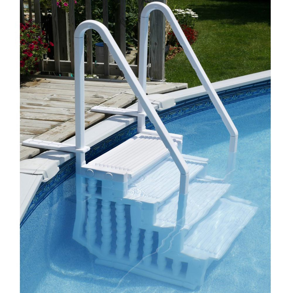 Easy Above Ground Swimming Pool Steps By Bluewave