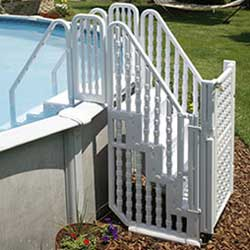 easy above ground pool steps entry system