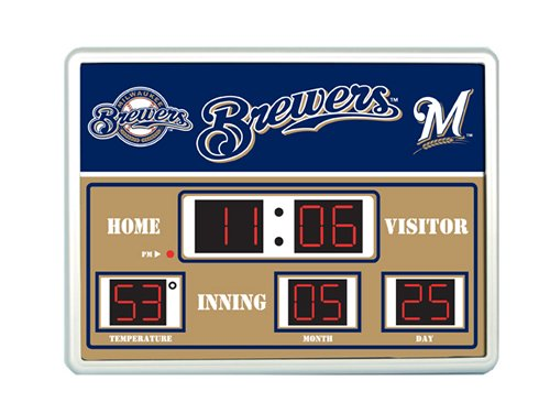 Major League Baseball Official Team Logo Scoreboard Wall