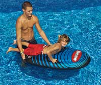 Speedster Body Board Inflatable Snow Sled and Pool Float