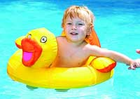 Ducky Baby Seat Inflatable Swimming Pool Toy
