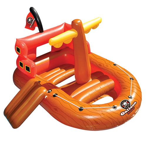 Galleon raider pirate ship pool float - Inflatable pirate ship swimming pool ...