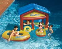 Boat House Inflatable Swimming Pool Float with Boats