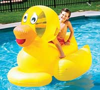 Giant Rideable Ducky Inflatable Swimming Pool Float
