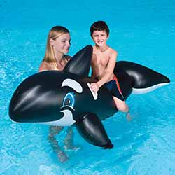 Jumbo Whale Inflatable Ride-On Pool Toy