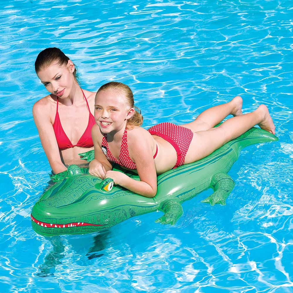 Crocodile Inflatable Ride On Pool Toy