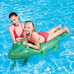 Crocodile Inflatable Ride-On Pool Toy