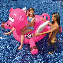 LOL Farm Animal Inflatable Ride-On Pool Toy