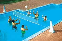 Pool Jam Volleyball and Basketball Combo for In Ground Pools