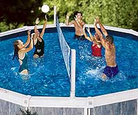 Pool Jam Volleyball and Basketball Combo for Above Ground Po