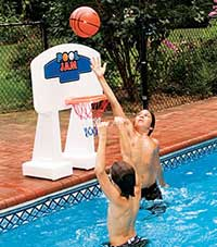 Pool Jam Basketball Goal for In Ground Swimming Pools
