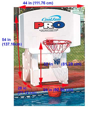 Cool Jam Pro Basketball Goal For In Ground Swimming Pools