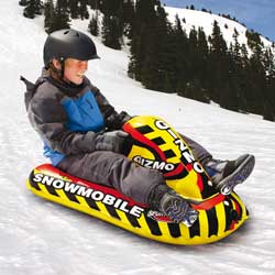 Snowmobile Rider Downhill Inflatable Snow Sled